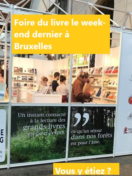 Foire du livre à Bruxelles 2019